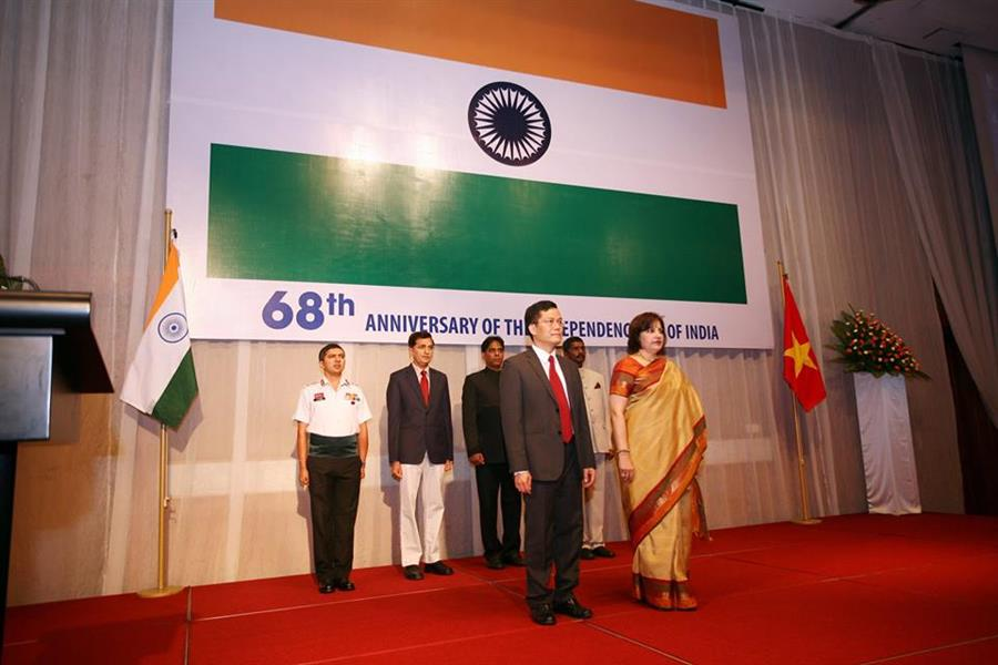 Embassy of the Republic of India in Vietnam celebrated Independence Day in Hanoi