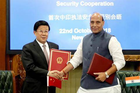 India, China sign first security cooperation agreement