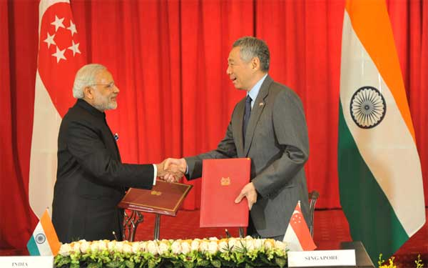 Singapore, India lift ties to strategic partnership