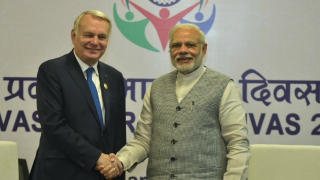 French Foreign Minister Jean-Marc Ayrault meets PM Narendra Modi, discusses defence, terrorism
