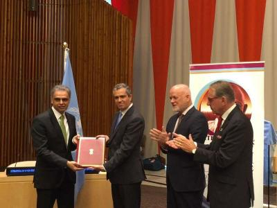 India joins Paris Climate Change Agreement, submits instrument of ratification at UN headquarters
