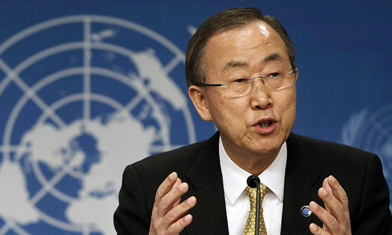 Deeply concerned about situation at Kashmir LoC: UN chief Ban Ki-moon