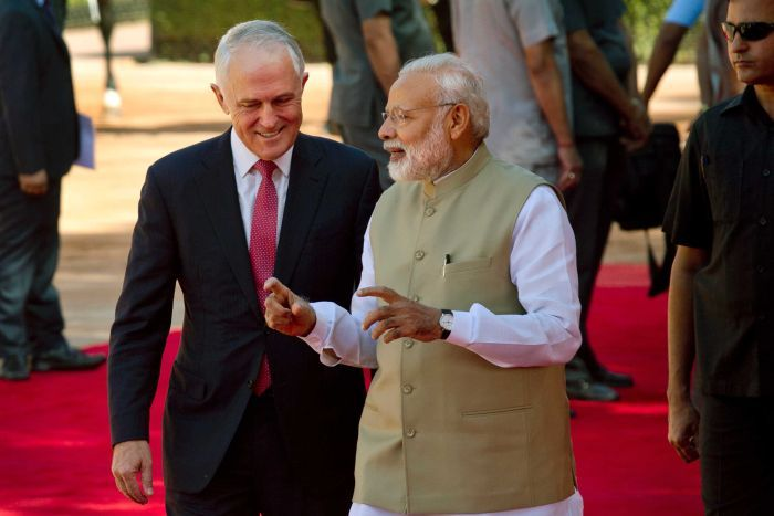 Australian Prime Minister Malcolm Turnbull arrives on four-day India visit