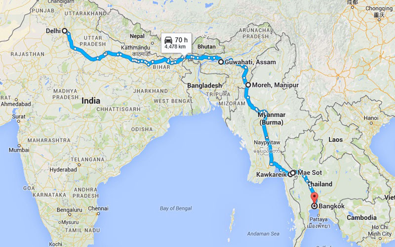 India, Thailand, Myanmar working on 1,400km link road