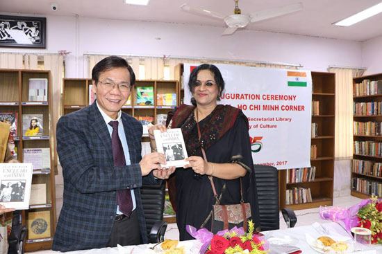 First Vietnam-Ho Chi Minh book room opened in India