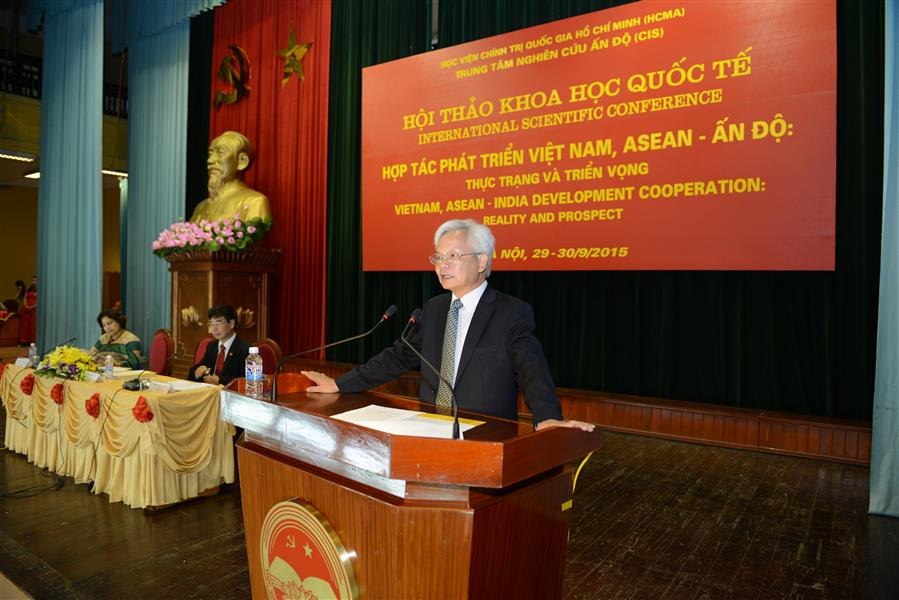 "Introductory Report International Scientific Conference ""Viet Nam, ASEAN - India Development Cooperation: Reality and Prospect"" by Professor PhD. Ta Ngoc Tan, President of Ho Chi Minh National Academy of Politics"