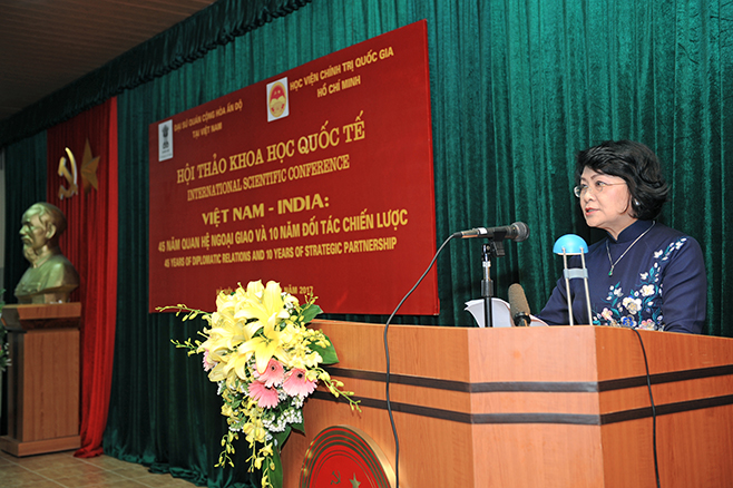 "Vice President Dang Thi Ngoc Thinh's Speech at International Scientific Conference ""Vietnam – India: 45 Years Of Diplomatic Relations and 10 Years of Strategic Partnership"""