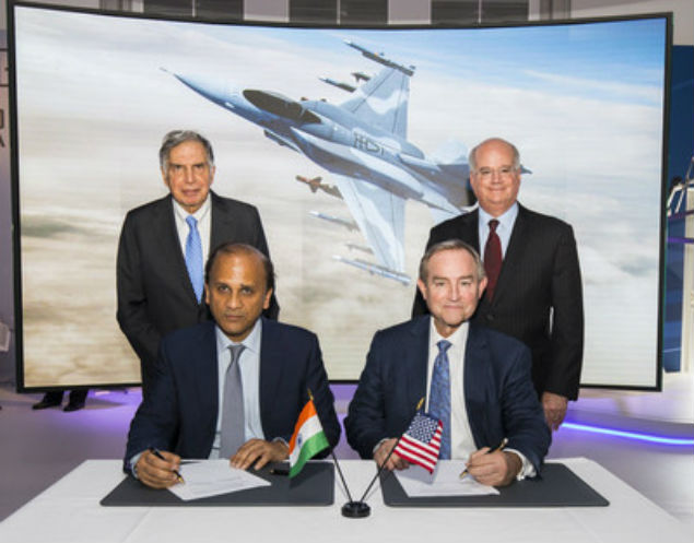 Lockheed signs pact with Tata to make F-16 planes in India