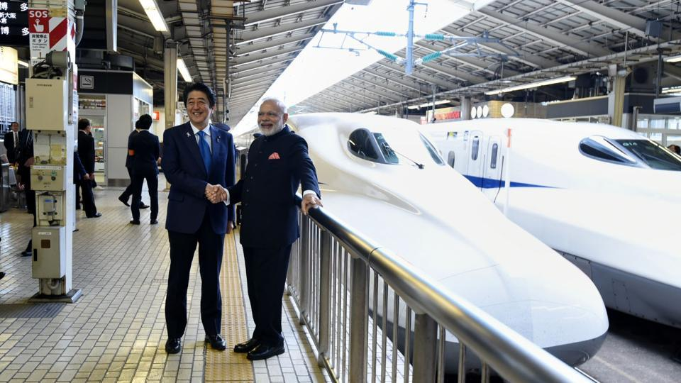 PM Modi, Shinzo Abe to lay foundation stone of bullet train on Thursday