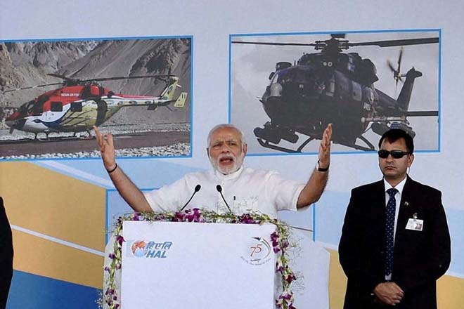 PM Modi pitches for India's self-reliance in defence manufacturing