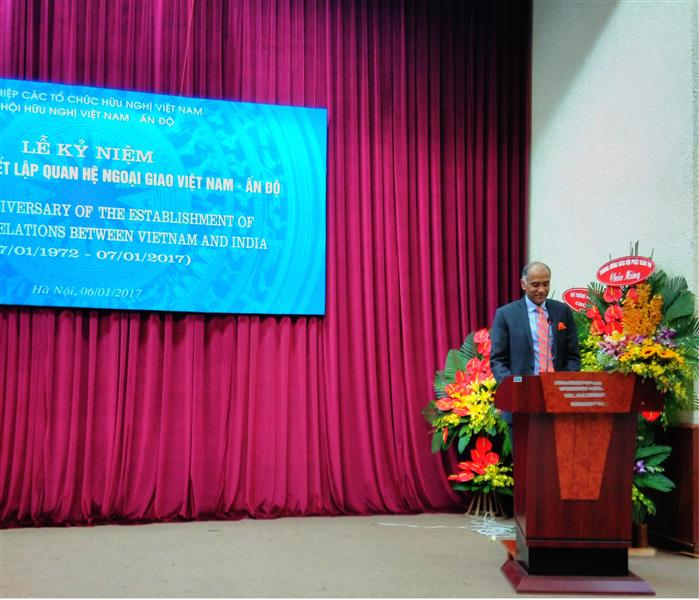 Ambassador's Speech on the Occasion of Commemoration of the 41th Anniversary of Establishment of Diplomatic Relation between India and Vietnam by the Vietnam-India Friendship Association 6th January 2016.
