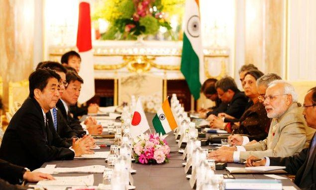 Japan, India share concerns over increasingly tensions in the East and South China seas