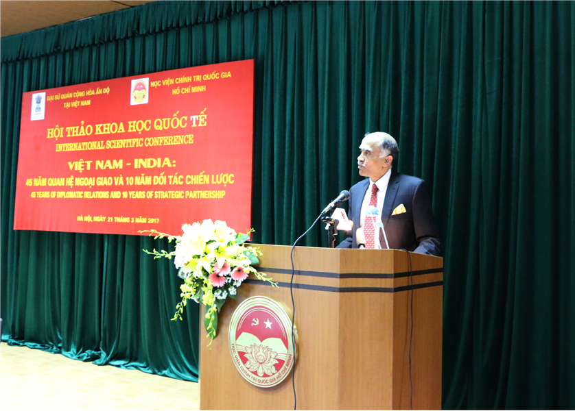 "Speech of Ambassador P. Harish at the conference on ""Vietnam-India: 45 years of Diplomatic Relations and 10 years of Strategic Partnership"""