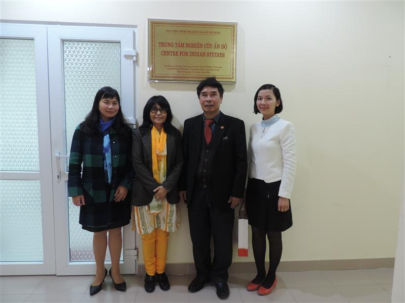 Director of the Centre for Indian Studies, Ho Chi Minh National Academy of Politics had a meeting with Deputy Chief of Mission, Embassy of the Republic India in Vietnam