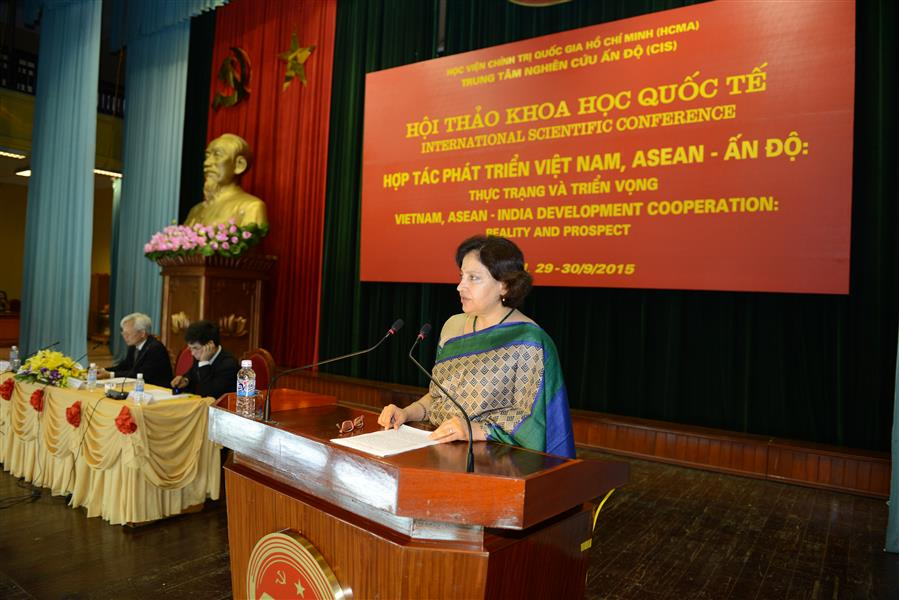 "Speech of H.E. Ms. Preeti Saran, Ambassador extraordinary and plenipotentiary of the Repulic of India to Vietnam at the International Scientific Conference ""Viet Nam, ASEAN - India Development Cooperation: Reality and Prospect"""