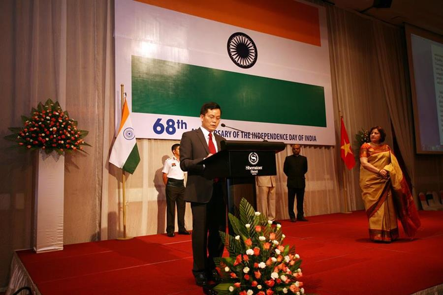 Toast by Mr. Ha Kim Ngoc, Vice-Minister of Foreign Affairs of Vietnam at the Reception on the 68th Anniversary of the Independence Day of india