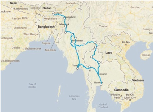 India-Myanmar-Thailand Highway Becomes Operational, NEFIT Announces Tri-Nation Car Rally
