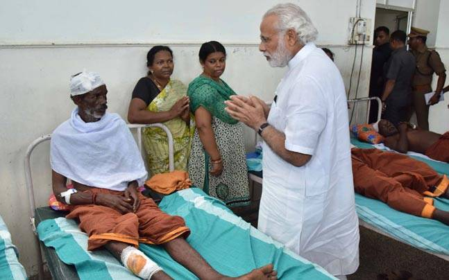 Indian Prime Minister visit Puttingal temple where massive fire kill over 100