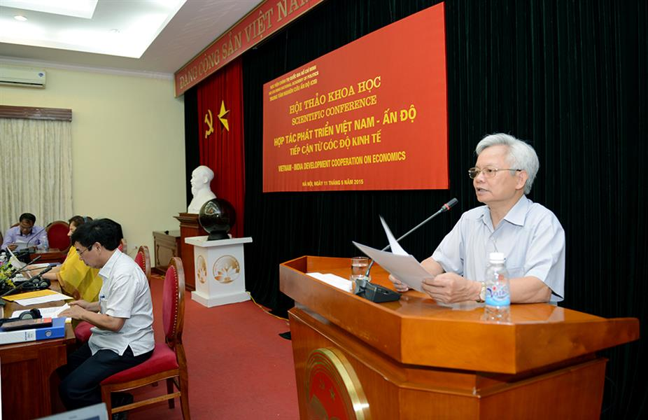 "Introductory Report Scientific Conference ""Vietnam – India Development Cooperation on Economics""  Prof., Dr. Ta Ngoc Tan Member of the Party Central Committee, President of Ho Chi Minh National Academy of Politics"