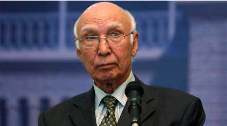 Pakistan ready for unconditional talks on all issues including Kashmir, says Sartaj Aziz